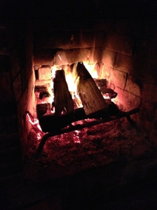 We went back to the Backstreet Pub.  I love me a good fire!