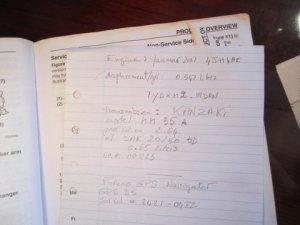 Hand written notes...
