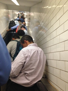 the escalator is not running because people would be packed in like sardines at the top