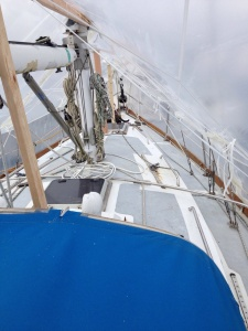 Starboard side. See the rust that we need to be taking care of?